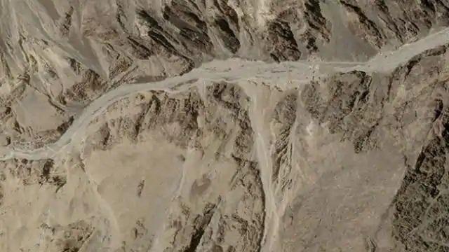 लद्दाख की गलवान घाटी की सैटेलाइट तस्वीर (फोटो: रॉयटर्स)